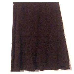 Brown skirt, great for work or play!